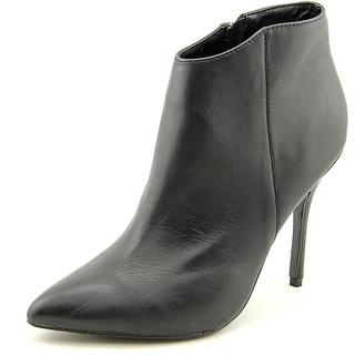 Steve Madden Grrand Women Pointed Toe Leather Black Ankle Boot