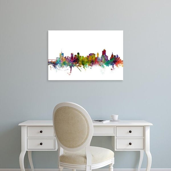 Easy Art Prints Michael Tompsett's 'Tulsa Oklahoma Skyline' Premium Canvas Art
