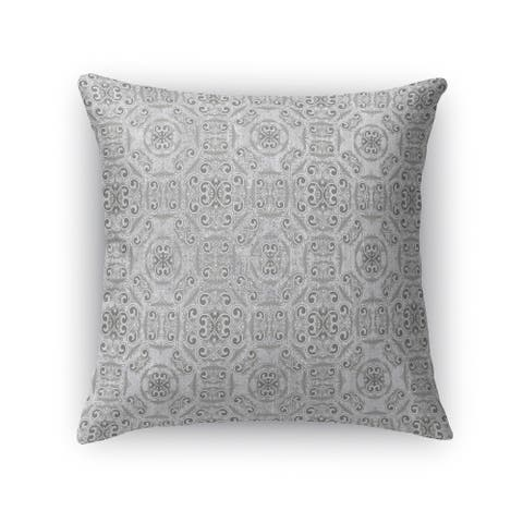 Kavka Designs grey bilbao accent pillow with insert