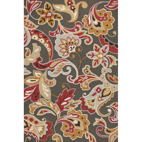 Domani Trails Boho Floral Indoor/ Outdoor Rug