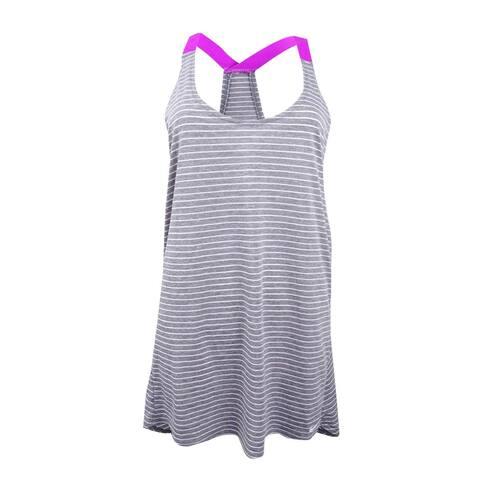 Nike Women's Striped Racerback Dress Cover-Up - Gunsmoke