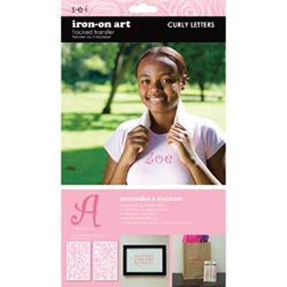 """Pink Curly - Letter Transfers 1-1/2"""" 2 Sheets/Pkg"""