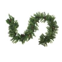 "50' x 12"" Dakota Red Pine Commercial Artificial Christmas Garland - Unlit - Green"
