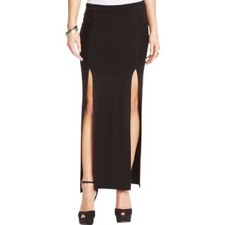XOXO Womens Juniors Maxi Skirt Jersey Ruched