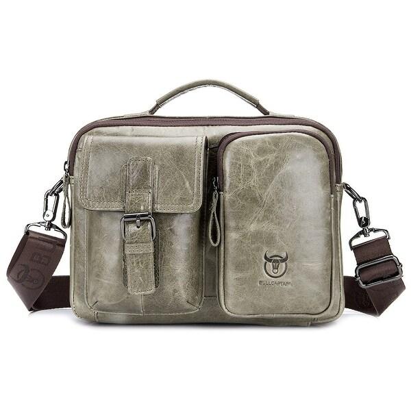 Best Vintage Bull Leather Tote Mens Briefcase Laptop Case Messenger Shoulder Bag
