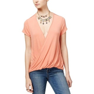 Free People Womens Hoffman Casual Top Crossover Draped