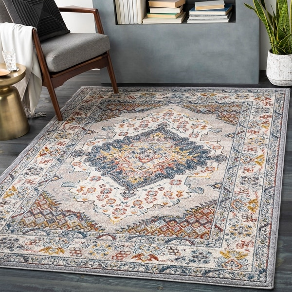Elmas Traditional Persian Medallion Area Rug. Opens flyout.