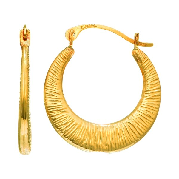 Mcs Jewelry Inc 14 KARAT YELLOW GOLD CHILDREN'S SMALL MESH HOOP EARRINGS