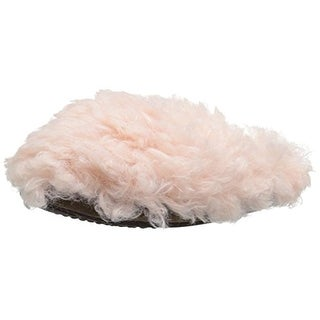 Muk Luks Womens Lucia Clog Slippers Faux Fur Knit