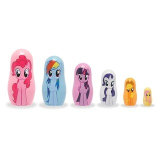 My Little Pony 6-Piece Plastic Nesting Doll Set - multi