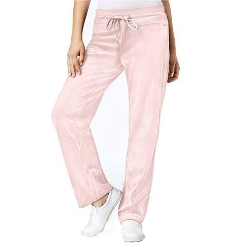 Calvin Klein Velour Mid Rise Pants, Blush, Medium