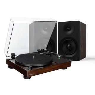 Fluance Elite Hifi Vinyl Turntable - Belt Drive, Preamp with Ai40 5 Powered Bookshelf 70W Speakers - aptX Bluetooth