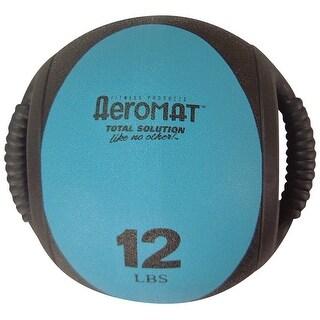 Sportime 12 lb Dual Grip Power Medicine Ball, Teal/Black