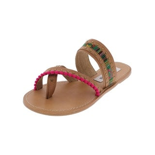 Womens Madison Printed Toe Loop Dress Sandals