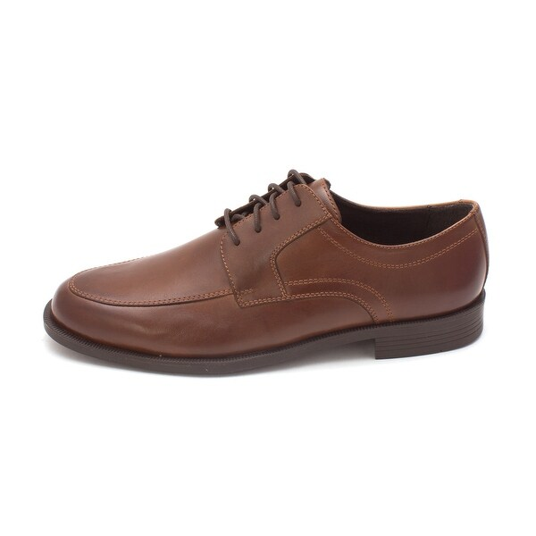 Cole Haan Mens Eltensam Leather Lace Up Dress Oxfords, Brown, Size 8.5