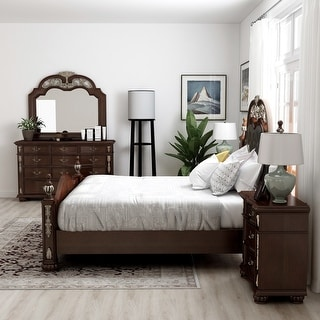 Furniture of America Urex Traditional Cherry 5-piece Bedroom Set