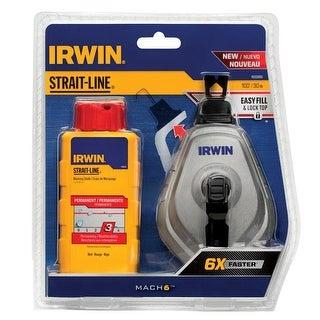 Irwin 1932890 Mach6 Braided Chalk and Reel Set, Blue, 100'