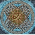 Handmade 100% Cotton Celtic Circle Tie Dye Wheel Of Life Tapestry Spread Twin Blue Beach Sheet Dorm Decor in Twin Full Queen - Thumbnail 3