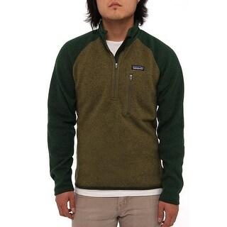 Patagonia Men Men's Better Sweater 1/4 Zip Fleece Fatigue Green