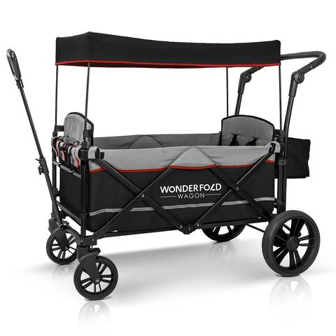 WonderFold Wagon X2 Pull & Push Double Stroller Wagon 2 Seater