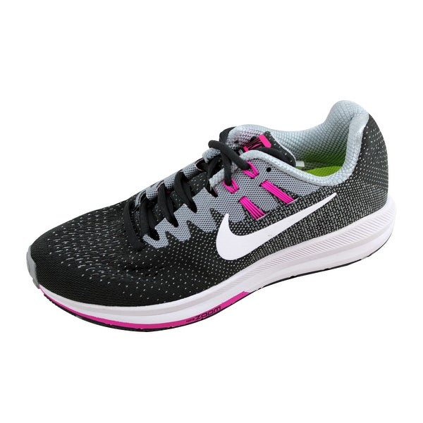 Nike Women's Air Zoom Structure 20 White/Black-True Berry 849577-006