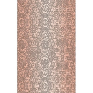 Brewster T346-0621 DC Fix 19.36 Square Foot Pink Lace Self-Adhesive Vinyl Wall C