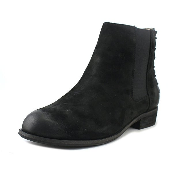Array Logan Women W Round Toe Suede Black Ankle Boot
