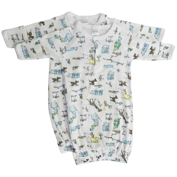Bambini Boys Print Infant Gowns - 2 Pack - Size - Newborn - Unisex