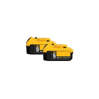 Replacement Battery For DeWalt DCS380B Power Tools - DCB205 (5000mAh, 20V, Lithium Ion) - 2 Pack