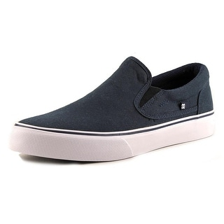 DC Shoes Trase Slip-On TX Round Toe Canvas Skate Shoe