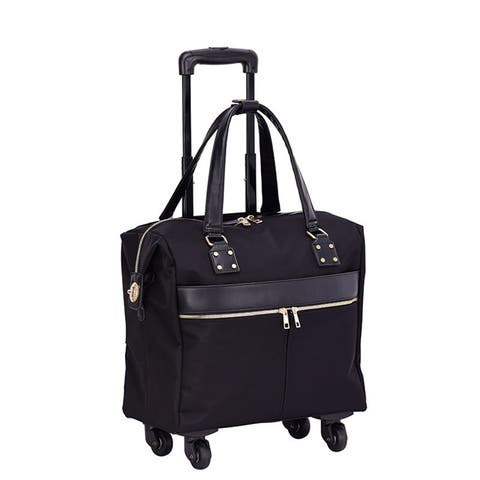 """Mellow World 16"""" Rolling Carry-On Suitcase with 4-wheel spinner"""