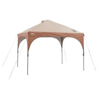 Coleman 10 ft. x 10 ft. Instant Lighted Canopy 10x10 Straight Canopy with led Shelter|https://ak1.ostkcdn.com/images/products/is/images/direct/50bb712edf4218842e25e1e53e235c60f09369aa/Coleman-10-ft.-x-10-ft.-Instant-Lighted-Canopy-10x10-Straight-Canopy-with-led-Shelter.jpg?impolicy=medium