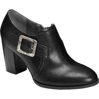 A2 by Aerosoles Women's Wallflower Ankle Bootie Black Faux Leather