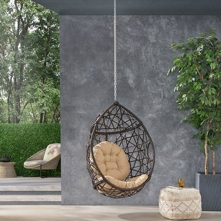 Link to Baja Hanging Chair by Christopher Knight Home Similar Items in Patio Furniture