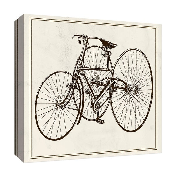 """PTM Images 9-126837 PTM Canvas Collection 12"""" x 12"""" - """"Old Tricycle"""" Giclee Transportation Art Print on Canvas"""
