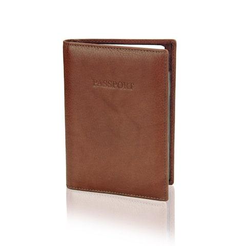 "Visconti Passport Wallet (BROWN) - 4.0"" x 5.5"""