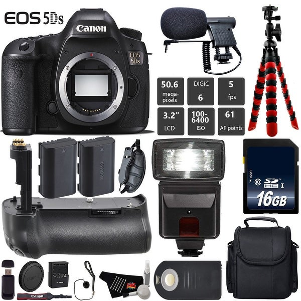 dcbeb2b22394 Shop Canon EOS 5DS R DSLR Camera (Body Only) + Professional Battery ...