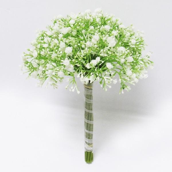 Set of 2 Baby's Breath Gypsophila Flower Stems Bouquet Bundle 12in. Opens flyout.