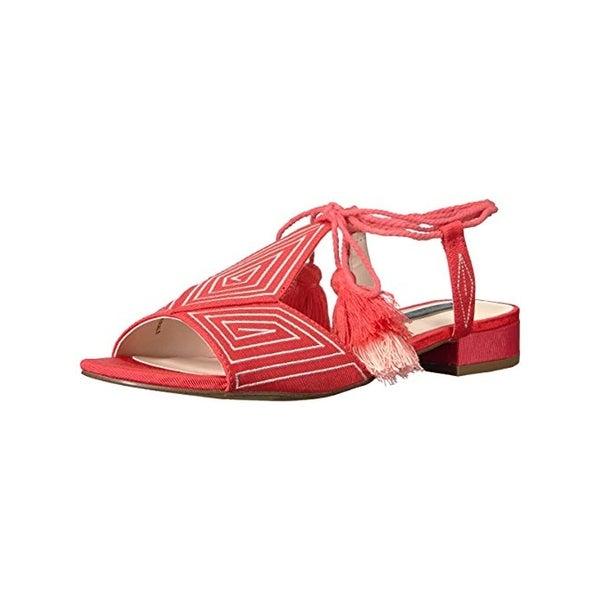 Kensie Womens Katara Slide Sandals Embroidered Open Toe