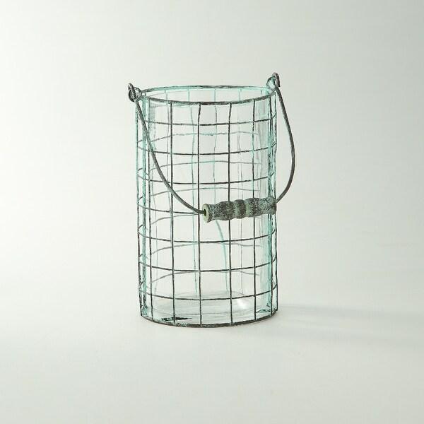 "8.5"" Clear Rustic Finish Handblown Glass Jar - N/A"