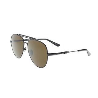 Bottega Venetta BV0106/S 001 Black Aviator Sunglasses - 55-19-145