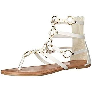 Penny Loves Kenny Womens Matrix Faux Leather Embellished Gladiator Sandals - 6 medium (b,m)