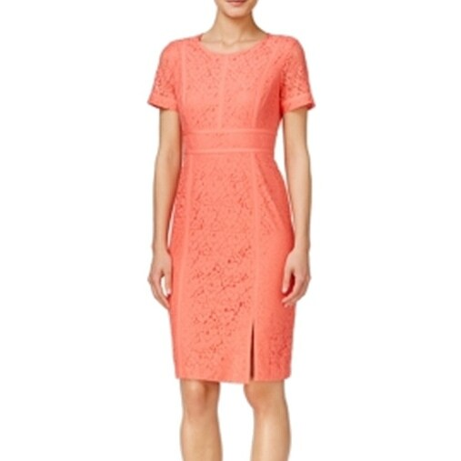 Shop Calvin Klein New Orange Women S Size 12 Sheath Floral