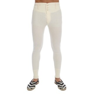 Dolce & Gabbana White 100% Cashmere Winter Underwear Pants