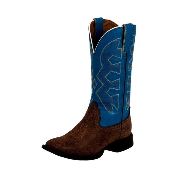 Nocona Western Boots Boys Kids Square Toe Unit Heel Leather NK5050