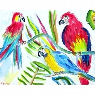 Betsy Drake DM392 Three Parrots Door Mat Small