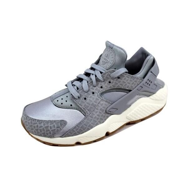 985bf68d24fe1 Shop Nike Women s Air Huarache Run Premium Wolf Grey Wolf Grey-Sail ...