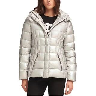 Link to Dkny Womens Metallic Puffer Jacket Similar Items in Women's Outerwear