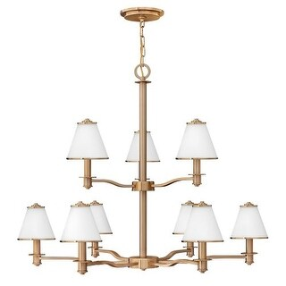 Fredrick Ramond FR43608 9 Light 2 Tier Chandelier from the Coco Collection
