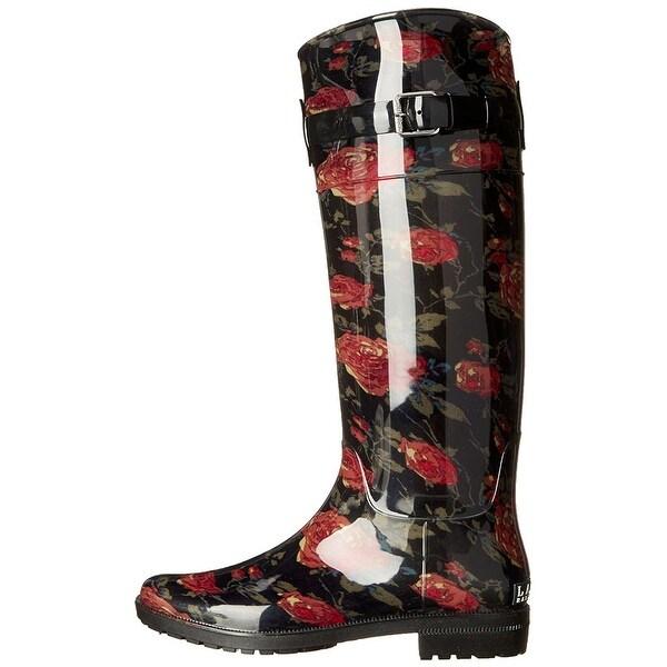 LAUREN by Ralph Lauren Womens Rossalyn Closed Toe Mid-Calf Rainboots